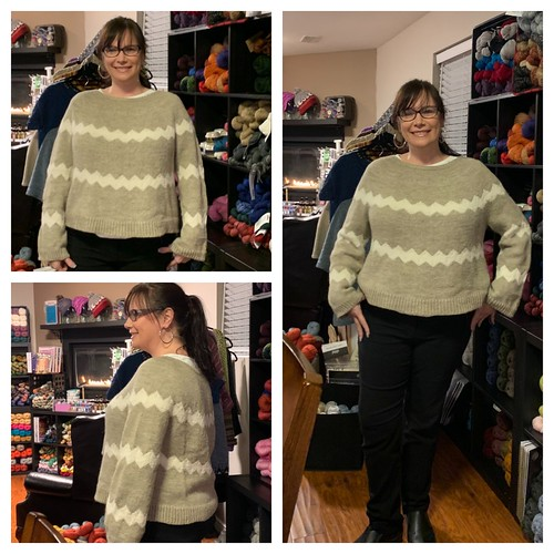 Angie's second ever sweater and first stranded sweater - Beautiful and she loves it! Bonus! Pattern is Missoni Accomplished, Yarn is Berroco Ultra Alpaca Light