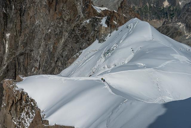 Balade sur les crêtes du mont-Blanc