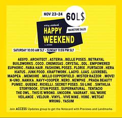 Happy Weekend Nov 23rd-24th Sale List