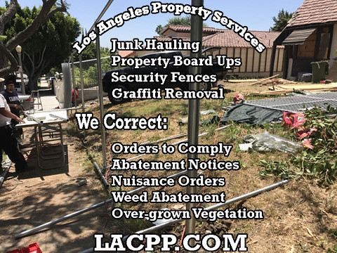 bank owned property chain link fence installation