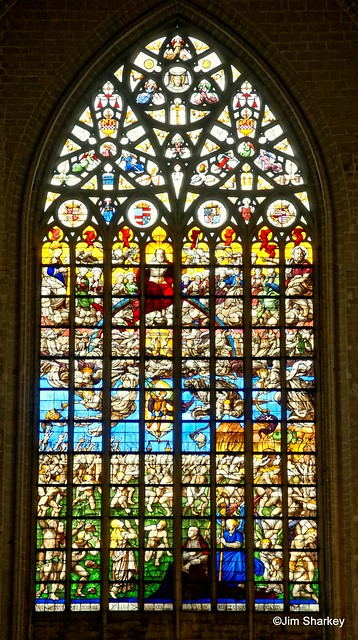 stained glass window St Martins Church Ypres Belgium