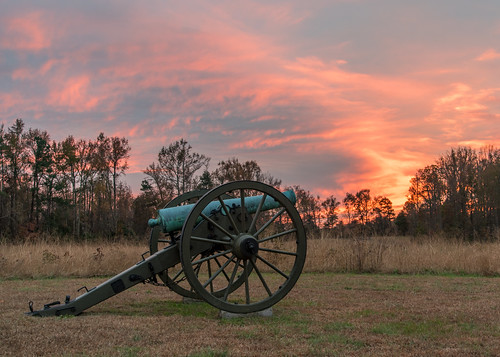 November Sunset Over the Gaines' Mill Battlefield