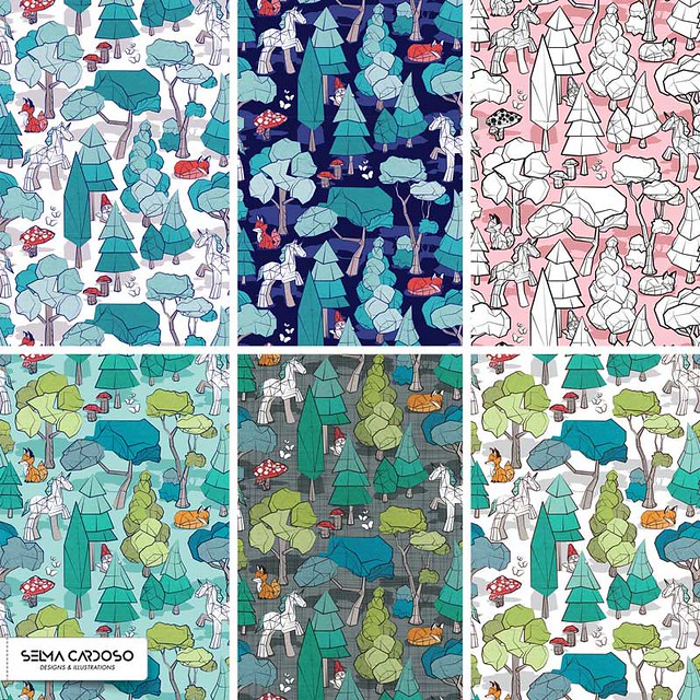 """Geometric whimsical wonderland"" is my Spoonflower entry."