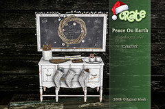 Crate's Peace On Earth Sideboard for Tannenbaum