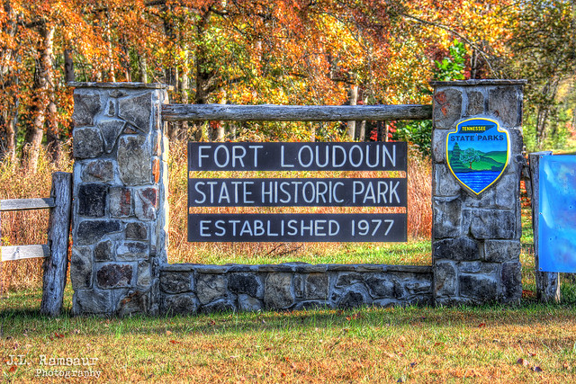 Fort Loudoun State Historic Park sign - Vonore, Tennessee