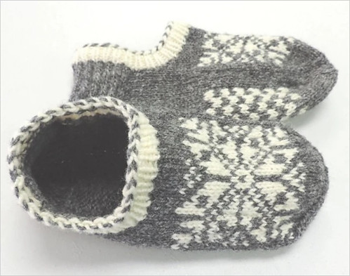 Snoopyknitter's Uppsala Slippers by Fibrely