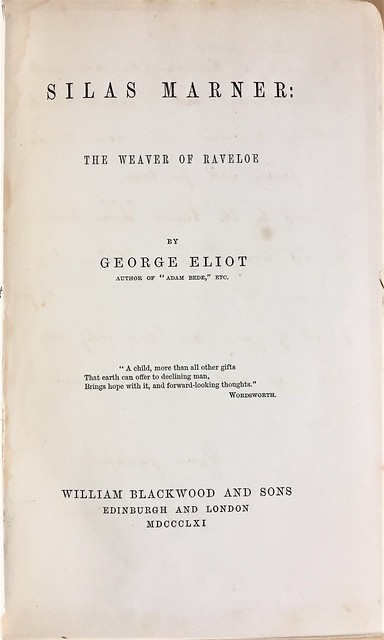 silas marner title page