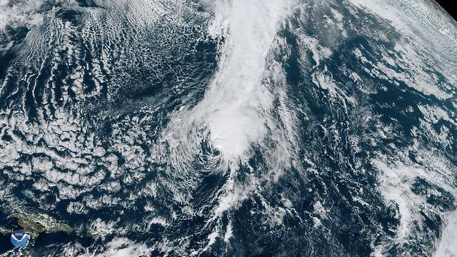 Tropical Storm Sebastien Gradually Weakens Over the Atlantic