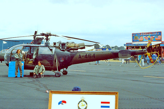 A-464   Sud Aviation SE.3160 Alouette III [1464] (Netherlands Air Force) RNAS Yeovilton~G 15/07/1995