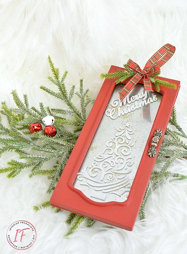 repurposed jewelry box door ornament