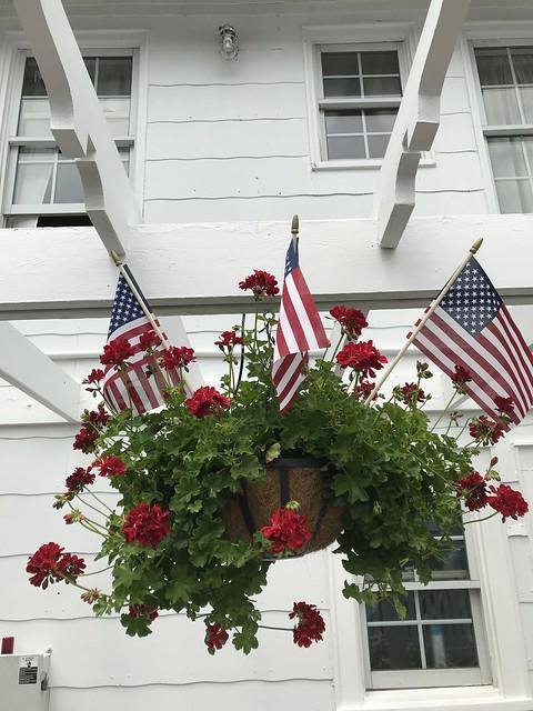 Hanging Flowers w Flag IMG_0035 - JU