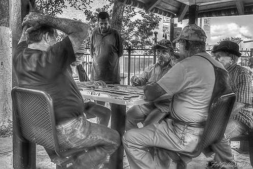 Dominoes Players - Calle Ocho  Miami - B&W