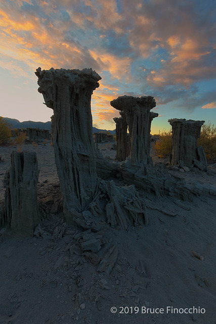 Sand Tufa Towers Along Mono Lake Shores