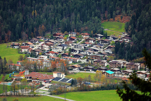 Ellmau, Tirol, Austria, seen from above | by wuestenigel