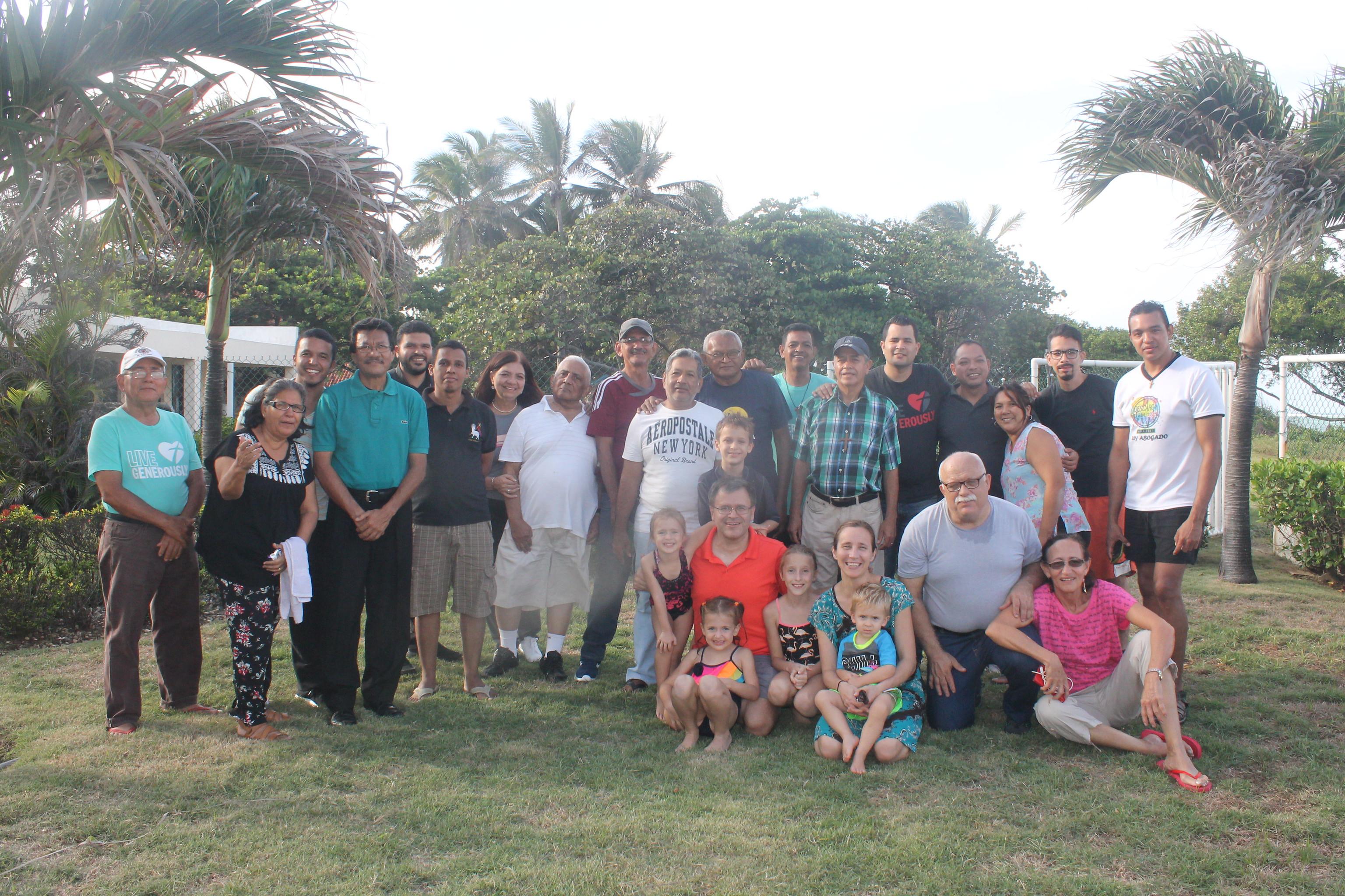 Venezuelan pastors, friends and families.