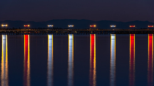 whiterock beach sunset twilight reflection scenery scenicsnotjustlandscapes seascape pier lights colour colours britishcolumbia water waterscape nikon nikkor ngc nature nationalgeographic 70200mmf28vrii 70200mm 70200mmf28gedvrii tripod longexposure lowlight travel travelplanet slowshutter
