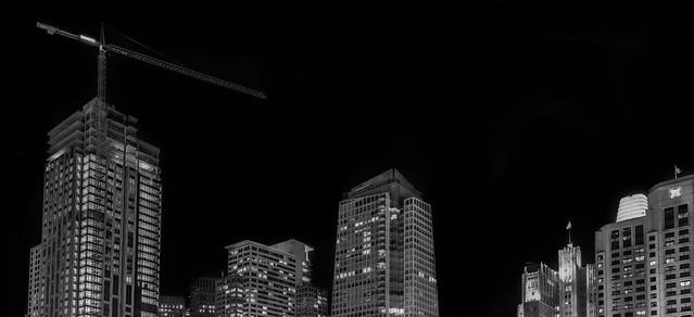 moscone expansion monochrome skyline