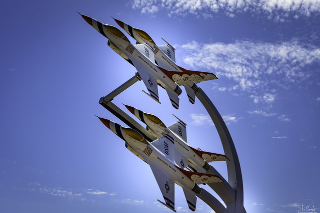 Entrance Nellis Air Force Base - Nevada - USA