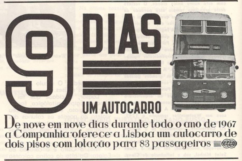 9 dias, um autocarro (Daimlers Fleetline), Gazeta dos Caminhos de Ferro, n.º, 1/1/1967