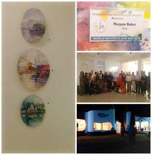 Participating in group show with International Water Society Mauritius inauguration by Minister of Art , started from 22nd Nov till1 st Dec on the eve of international Watercolor Day