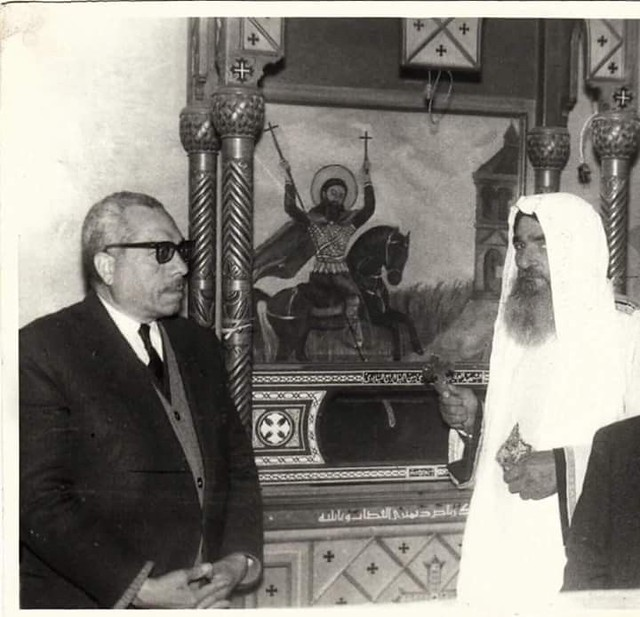 القمص ميخائيل يوسف عطا والمقدس صبحي توفيق والد القمص رافائيل آفا مينا