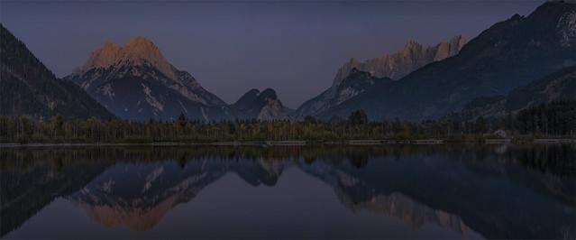 _DSC4110_11 Last light at the Panorama Lake - Admont - Styria / Austria
