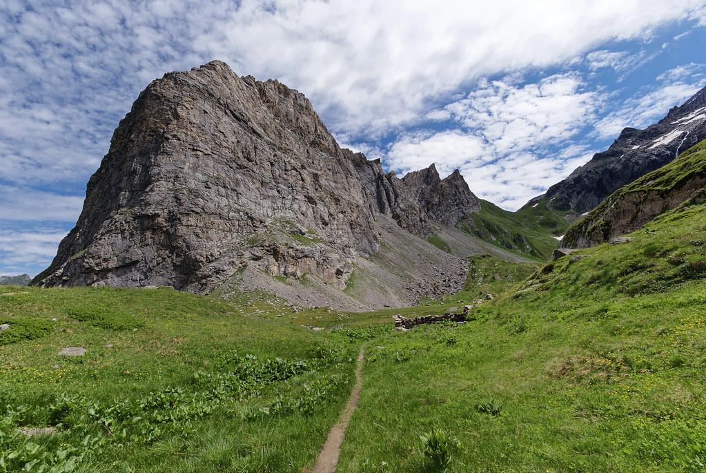 Massif du grand Marchet, juste au dessus de Pralognan la Vanoise.