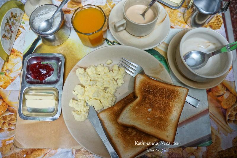 2014 Nepal Kathmandu Shree Tibet Family Guest House Breakfast