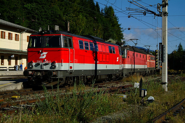 3 different locomotive types at Semmering Pass