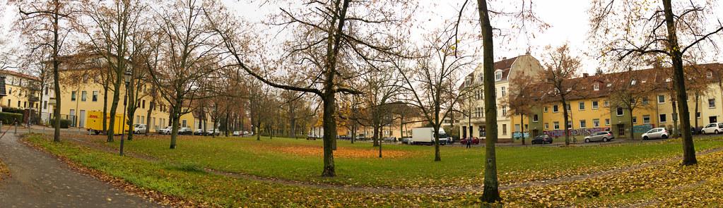 Berlin Dorfaue Lankwitz 23.11.2019 Panorama