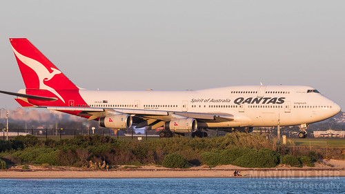 2019 744 747 747400 airlines boeing qantas syd vhojs yssy sunset