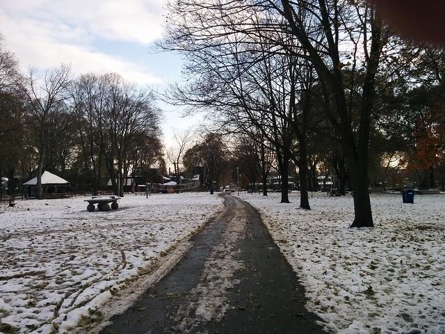 Dufferin Grove after the first snow last Thursday (5) #toronto #dufferingrove #dufferingrovepark #snow #latergram