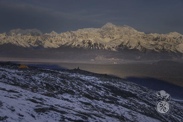 Mountain shadow on Kesugi Ridge
