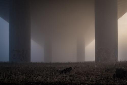 fog under the bridge