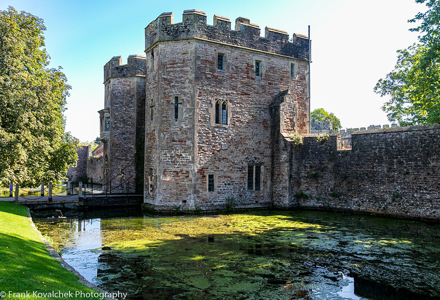 The Bishops Palace exterior, Wells, England