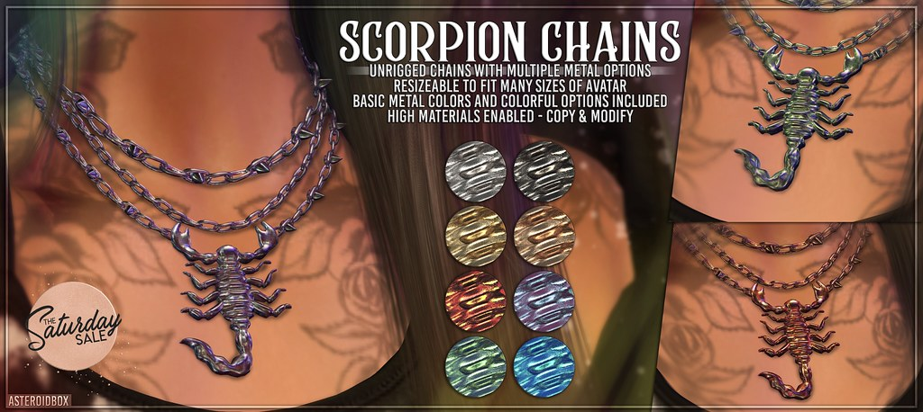 AsteroidBox. Scorpion Chains @ Saturday Sale