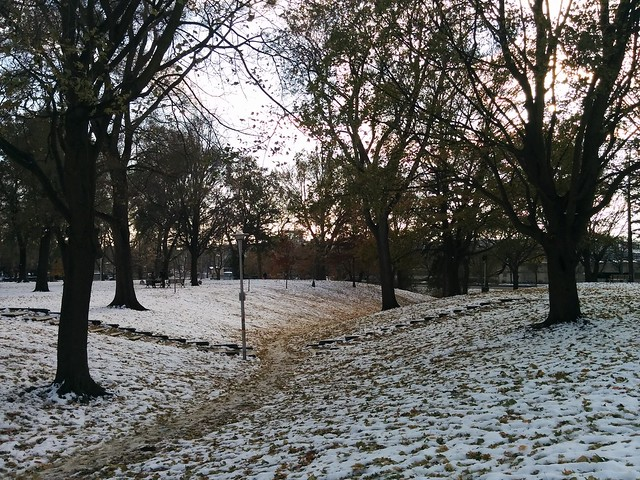 Dufferin Grove after the first snow last Thursday (3) #toronto #dufferingrove #dufferingrovepark #snow #latergram