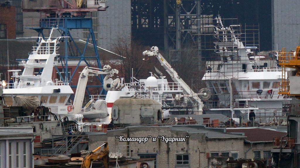 Komandor and Udarnik trawlers