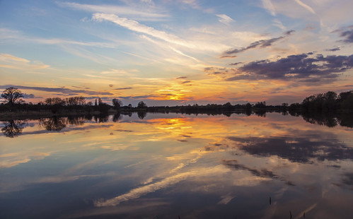 canon6d sunset landscape nature outdoors outside waterscape clouds sky colour reflections uk cambridgeshire