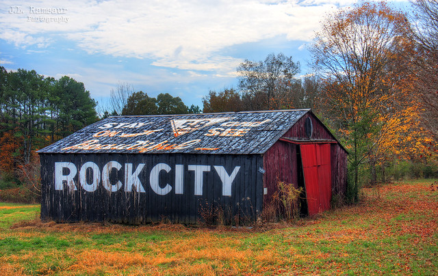 Stay on TN58 and See Beautiful Rock City barn - Georgetown, Tennessee