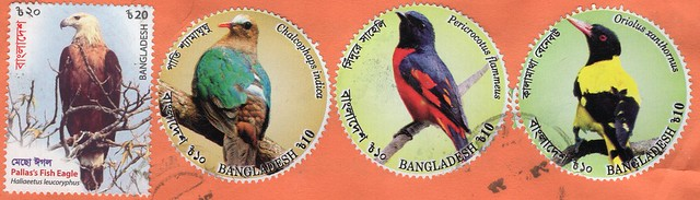 Stamps from Bangladesh.