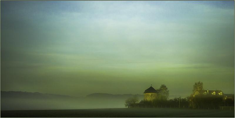 die Mühle im Nebel