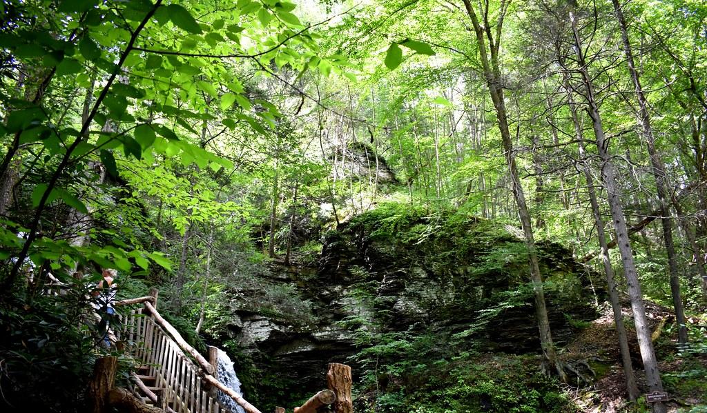 Stairway to waterfalls