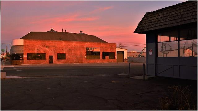 4th street buildings at dusk