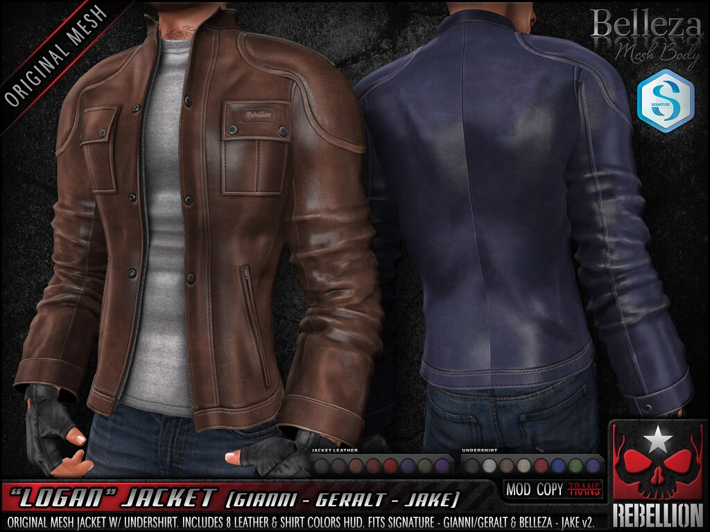 "= REBELLION = ""LOGAN"" JACKET"