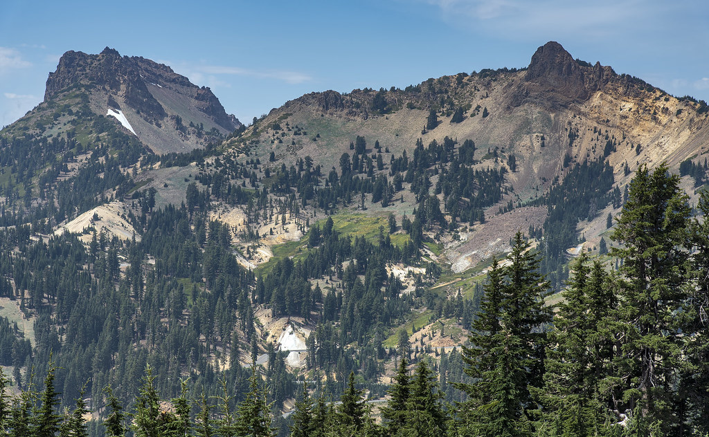 View from Bumpass Hell Trail in Lassen Volcanic National Park