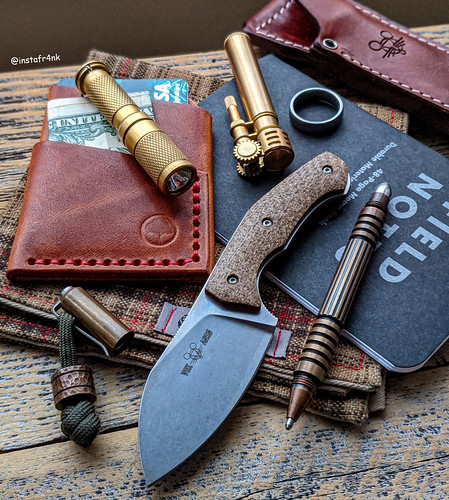 GiantMouse GMF1, Hinderer Investigator Pen, Redeemed Creations Slim wallet in Horween English Tan leather | by edcbyfrank