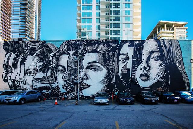 Downtown LA South Park Mural - Dourone