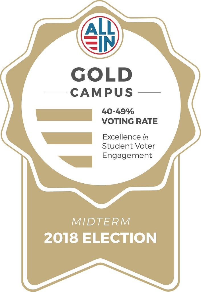 University acknowledged for increased voter participation