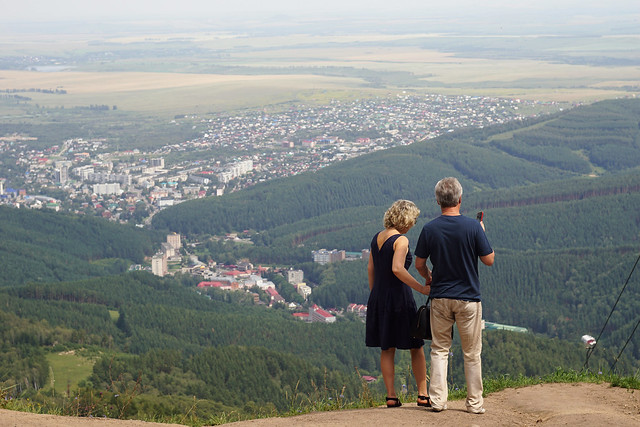 View of a resort town in the south of Siberia